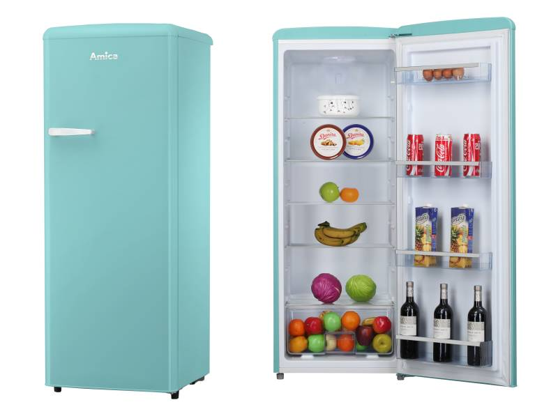 Kühlschrank Retro Schwarz : Amica vksr t a retro design ice blue vollraum