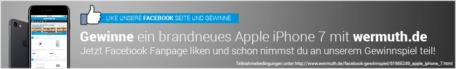 Gewinne ein brandneues Apple iPhone 7 mit wermuth.de